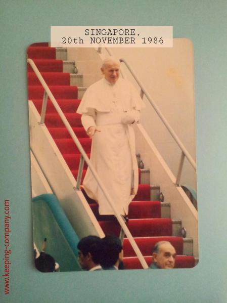 John Paul II, Singapore 1986. (C) Keeping-Company.com